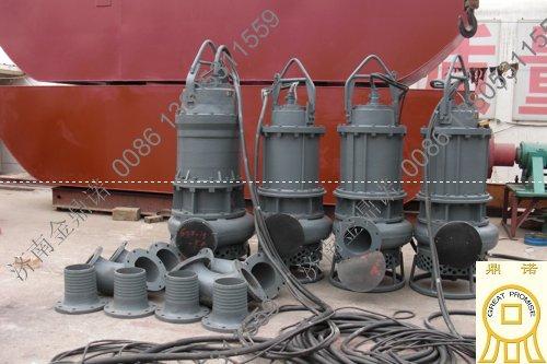 四台大功率潜水泥沙泵出口国外
