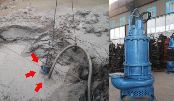[四川乐山]3寸潜水泥沙泵用于建筑基坑泥沙清理