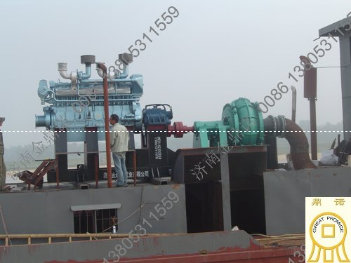 [广西]北海沙石厂12寸大颗粒抽沙泵机组