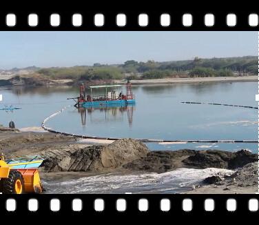 [菲律宾]潜水泥砂泵抽沙选铁视频