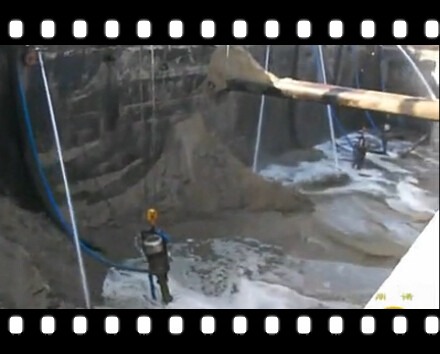 卸沙泵:运沙船卸沙视频