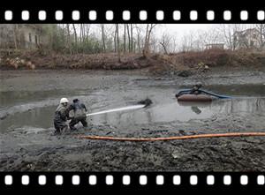 [视频]干塘式泥浆泵清淤视频