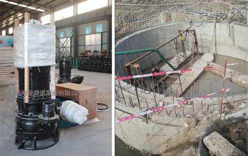 [福建]55KW潜水吸沙泵用于电厂沉井打桩清泥沙