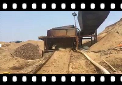 [青岛]卧式抽沙泵人造砂池抽泥沙视频