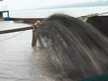 [湖南]8寸大流量潜水泥浆泵用于水库清淤