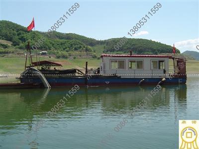 [辽宁]抽沙船用于抽矿砂,鸭绿江畔现金鼎诺倩影